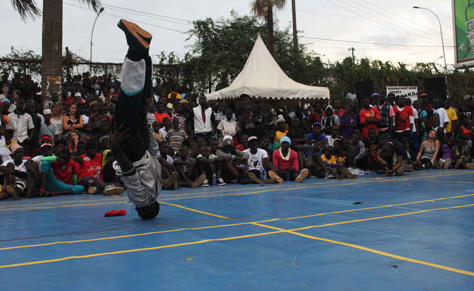 Breakdance-konkurrence til 'Break Fast'-event hos Breakdance Project Uganda